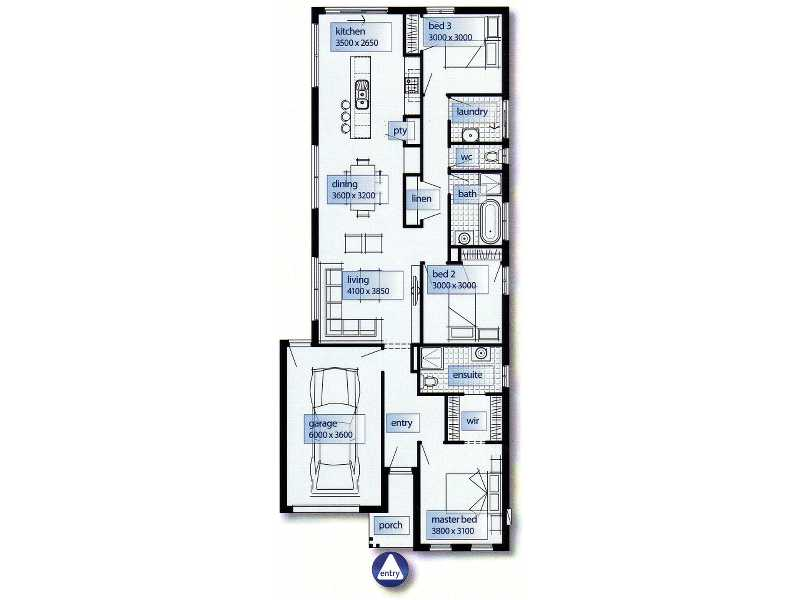 The Iris Floor Plan - Cairns Quality Homes