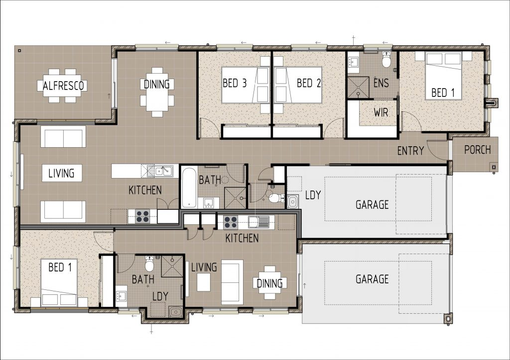 The Kelsey floor plan Cairns Quality Homes