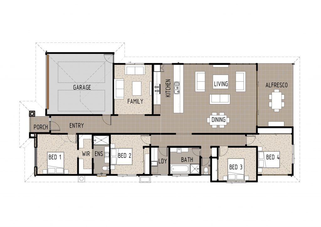 The Kym Floor Plan Cairns Quality Homes