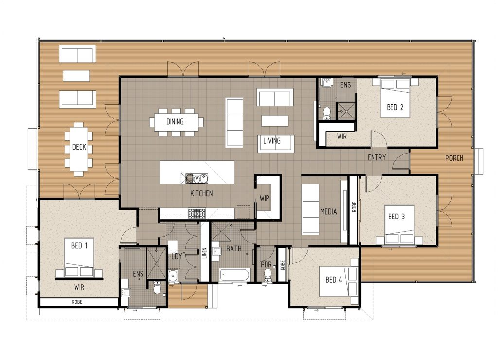 The Stacey Floor Plan Cairns Quality Homes